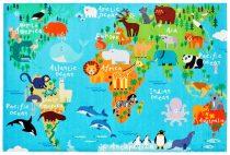 Föld állatvilága falvédő 120x170 cm