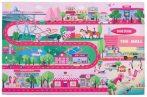 Glamour pink falvédő 160x230 cm