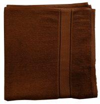 Törölköző 50x90 cm bordűrös barna