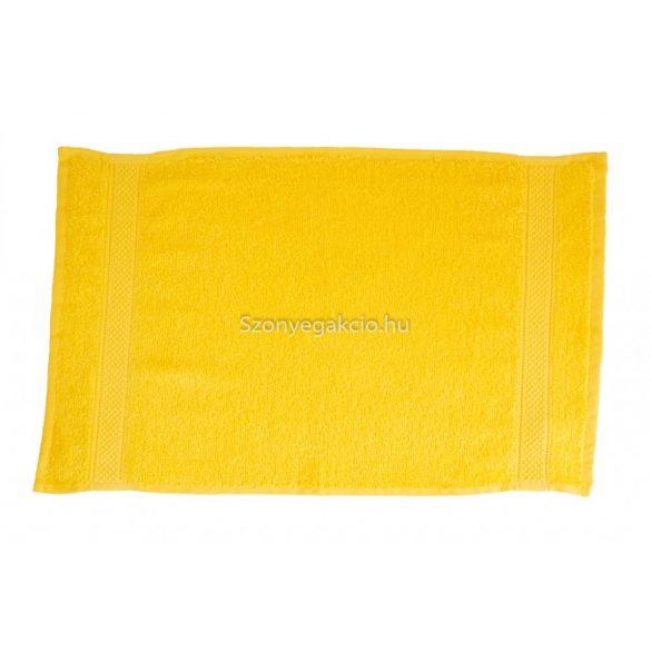 Törölköző 30x50 bordűrös citromsárga