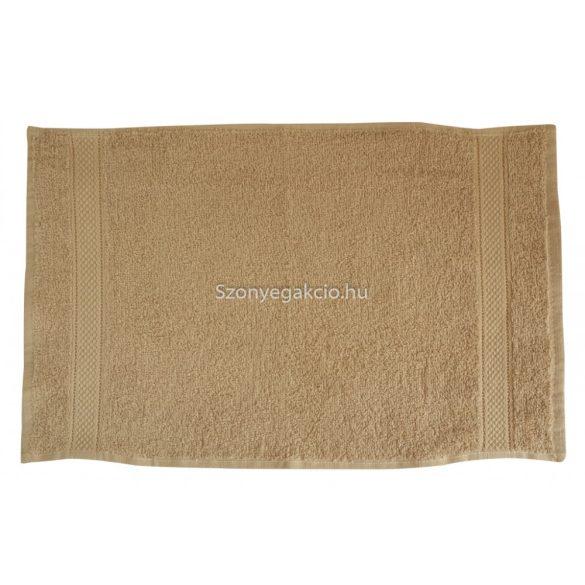 Törölköző 30x50 bordűrös drapp