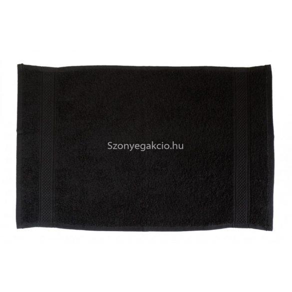 Törölköző 30x50 bordűrös fekete