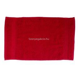Törölköző 30x50 bordűrös piros