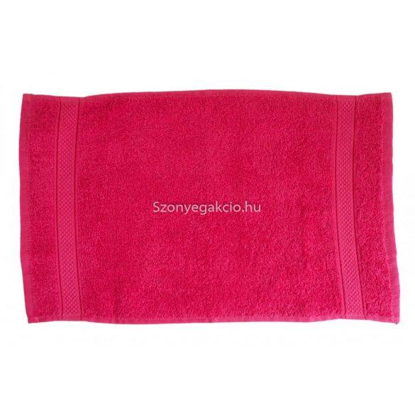 Törölköző 30x50 bordűrös pink