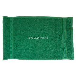 Törölköző 30x50 bordűrös sötétzöld