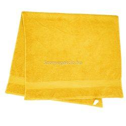Törölköző 70x130 bordűrös citromsárga