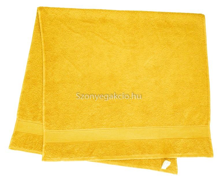 Törölköző 50x90 cm bordűrös citromsárga - Szőnyeg Webáruház a090e73c0a