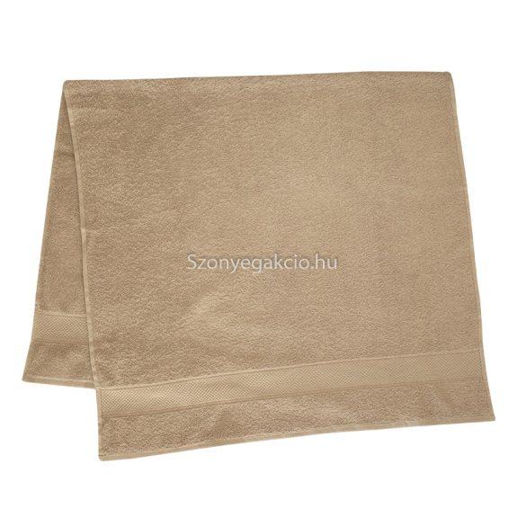 Törölköző 50x90 cm bordűrös drapp