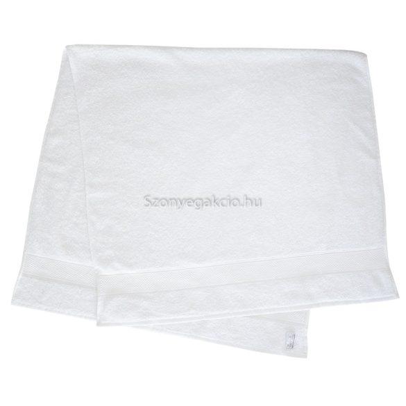 Törölköző 70x140 bordűrös fehér