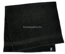 Törölköző 50x90 cm bordűrös fekete