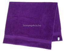 Törölköző 50x90 cm bordűrös lila