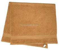 Törölköző 50x90 cm bordűrös mogyoróbarna