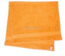 Törölköző 50x90 cm bordűrös narancssárga