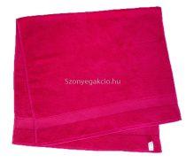 Törölköző 50x90 cm bordűrös pink