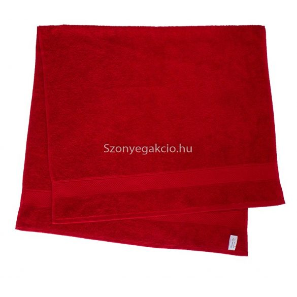 Törölköző 70x130 bordűrös piros