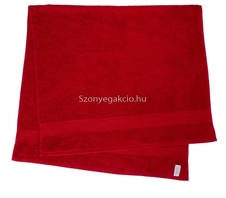 Törölköző 50x90 cm bordűrös piros - Szőnyeg Webáruház 637507197e