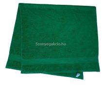 Törölköző 70x130 bordűrös sötétzöld