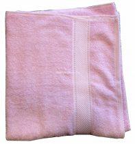 Törölköző 70x135 bordürös rózsaszín