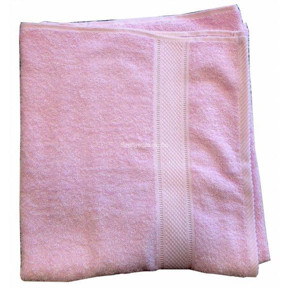 Törölköző 70x130 bordűrös rózsaszín - A KÉSZLET EREJÉIG!