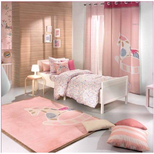 Rózsaszín hintalovas gyerekszőnyeg 150x200 cm - Rendelésre!