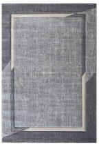 Trend 7430 krém-szürke keretes szőnyeg  80x150 cm