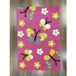 Trendy Kids Pink pillangós D237A szőnyeg  80x150 cm