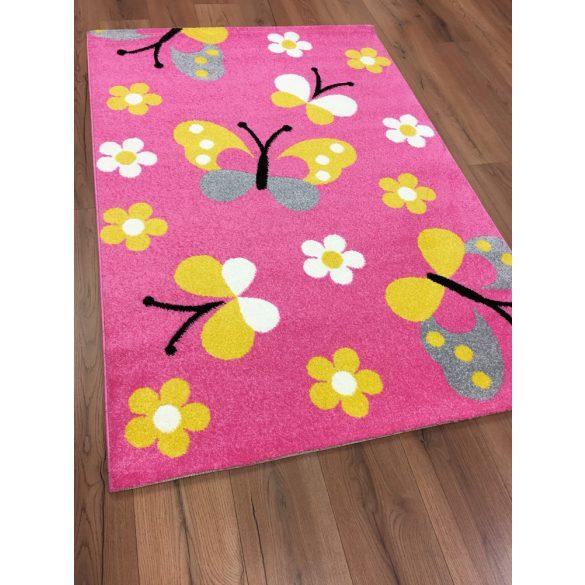 Trendy Kids Pink pillangós D237A szőnyeg 160x230 cm