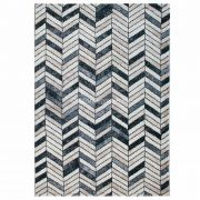 Tuana 7612 bézs-szürke parketta mintás szőnyeg  80x150 cm