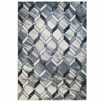 Tuana 7613 bézs-szürke rács mintás szőnyeg 160x230 cm