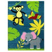 Trendy Kids Kék dzsungel állatai D231A gyerekszőnyeg 200x280 cm