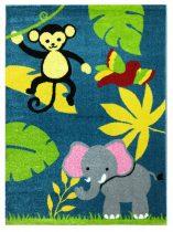 Trendy Kids Kék dzsungel állatai D231A gyerekszőnyeg 160x230 cm