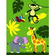 Trendy Kids Zöld dzsungel állatai D231A gyerekszőnyeg 280x360 cm