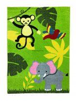 Trendy Kids Zöld dzsungel állatai D231A gyerekszőnyeg 120x170 cm
