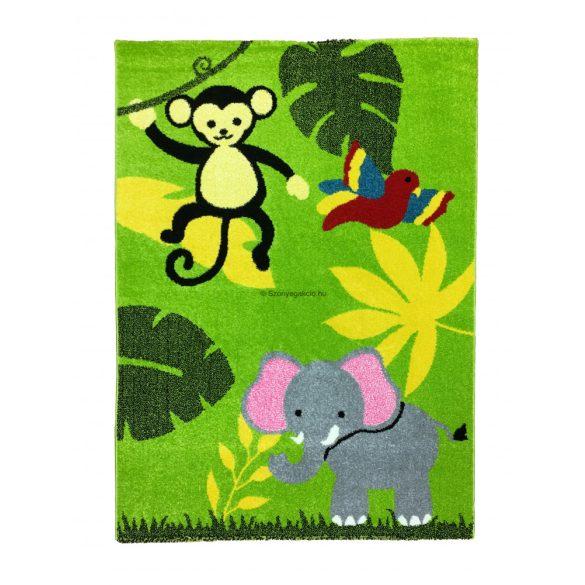 Trendy Kids Zöld dzsungel állatai D231A gyerekszőnyeg 200x280 cm