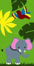 Trendy Kids Zöld dzsungel állatai D231A gyerekszőnyeg  80x150 cm