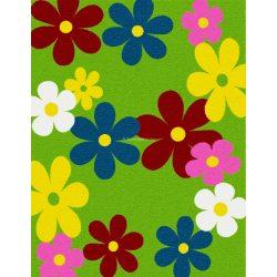 Trendy Kids Zöld virágos D236A szőnyeg 280x360 cm