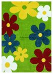 Trendy Kids Zöld virágos D236A szőnyeg 160x230 cm