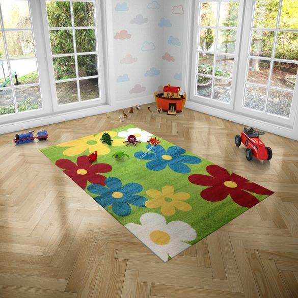 Trendy Kids Zöld virágos D236A szőnyeg 200x280 cm