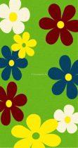 Trendy Kids Zöld virágos D236A szőnyeg  80x150 cm