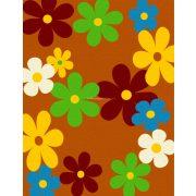Trendy Kids Narancs virágos D236A szőnyeg 280x360 cm