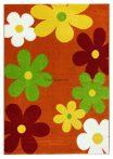 Trendy Kids Narancs virágos D236A szőnyeg 160x230 cm