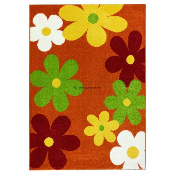 Trendy Kids Narancs virágos D236A szőnyeg 200x280 cm