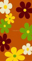 Trendy Kids Narancs virágos D236A szőnyeg  80x150 cm