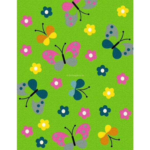 Trendy Kids Zöld pillangós D237A szőnyeg 280x360 cm
