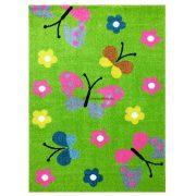 Trendy Kids Zöld pillangós D237A szőnyeg 120x170 cm