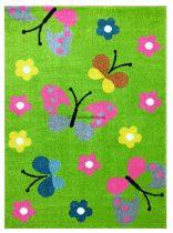 Trendy Kids Zöld pillangós D237A szőnyeg 200x280 cm