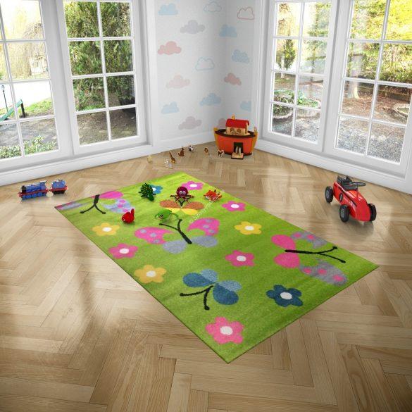 Trendy Kids Zöld pillangós D237A szőnyeg 160x230 cm