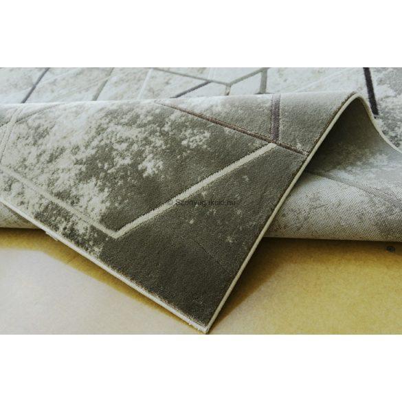 Zara 3963 bézs kockás-foltos szőnyeg 120x180 cm