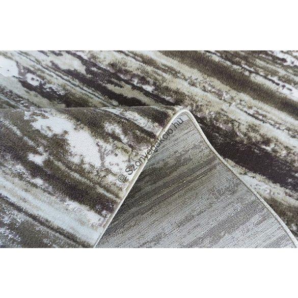 Zara 8488 barna-bézs csíkos szőnyeg  80x150 cm