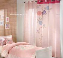 SC Függöny rózsaszín virágmintás 160x250 cm